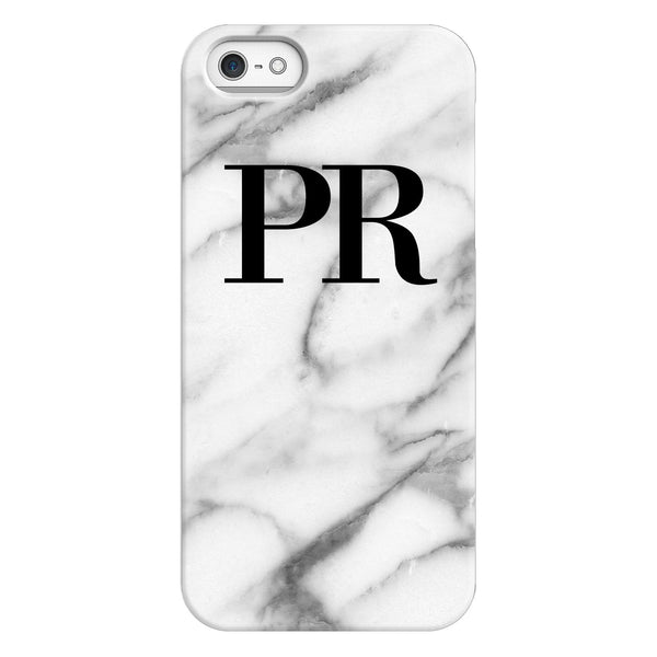 Personalised Pentelic Marble Initials iPhone 5/5s/SE (2016) Case