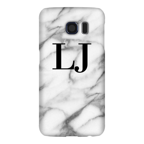 Personalised Pentelic Marble Initials Samsung Galaxy S6 Edge Case