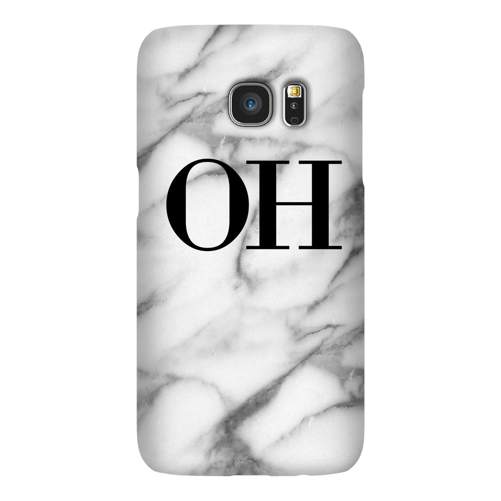 Personalised Pentelic Marble Initials Samsung Galaxy S7 Edge Case
