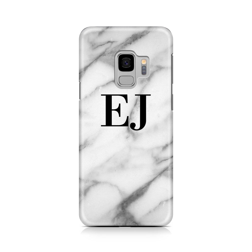 Personalised Pentelic Marble Initials Samsung Galaxy S9 Case