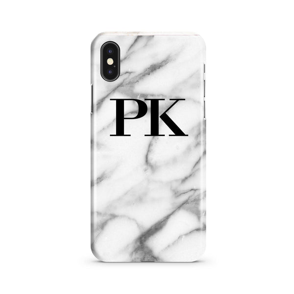 Personalised Pentelic Marble Initials iPhone XS Case