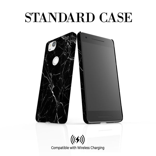 Personalised Black Marble Google Pixel 2 Case