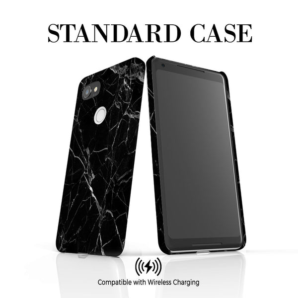 Personalised Black Marble Initials Google Pixel 2 XL Case