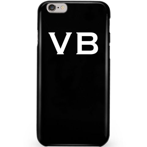 Personalised Black x White Top Initials Phone Case