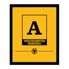 Wolves Monogram 290 x 360 Framed Print