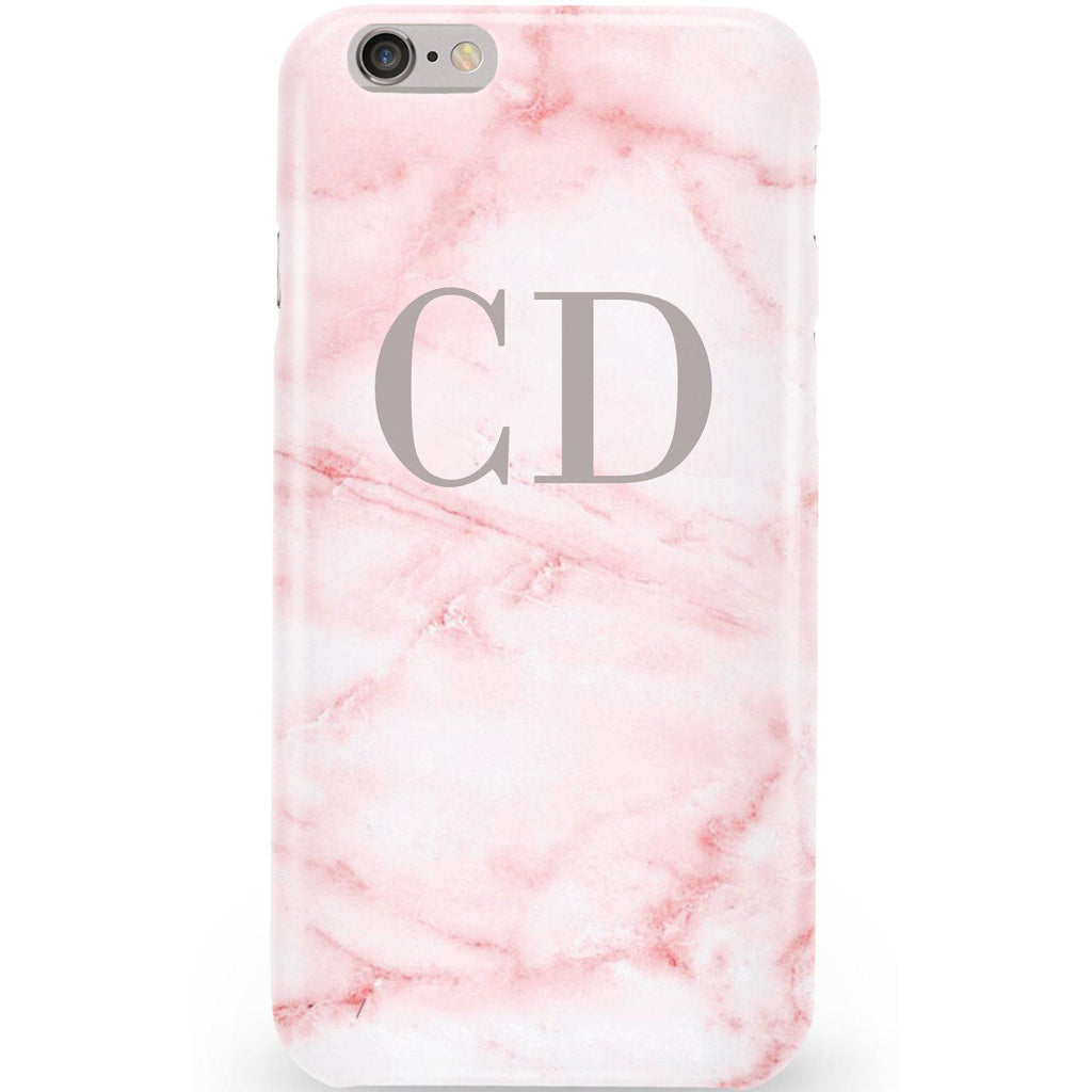Personalised Cotton Candy Marble Initials iPhone 6/6s Case