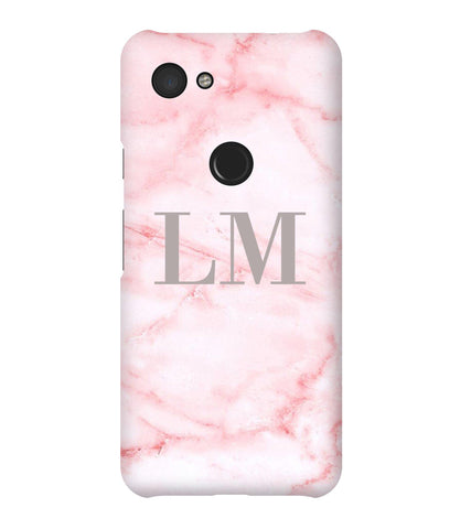 Personalised Cotton Candy Marble Initials Google Pixel 3a Case