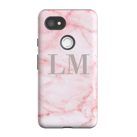 Personalised Cotton Candy Marble Initials Google Pixel 2 XL Case