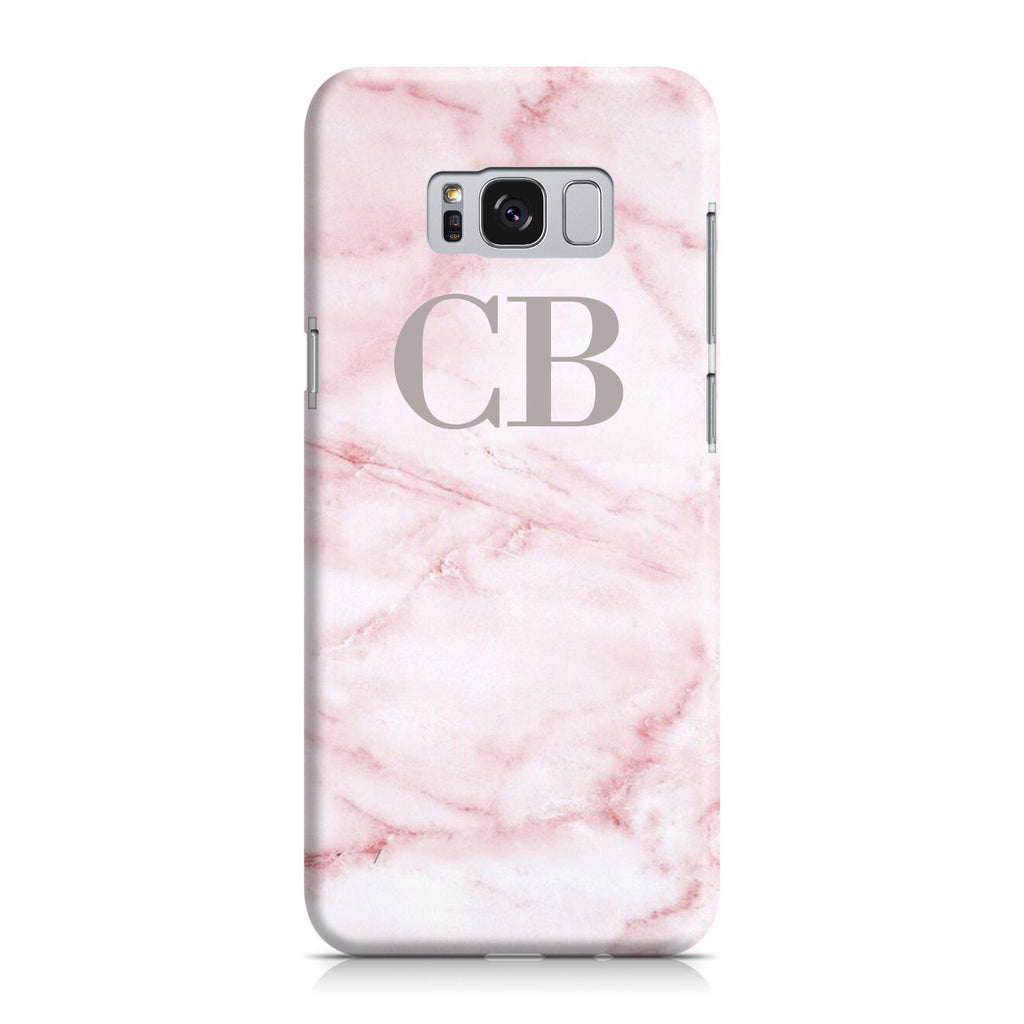 Personalised Cotton Candy Marble Initials Samsung Galaxy S8 Case