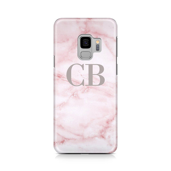 Personalised Cotton Candy Marble Initials Samsung Galaxy S9 Case