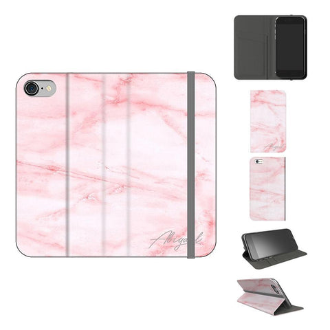 Personalised Cotton Candy Marble Name iPhone 7 Case