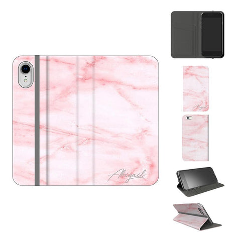 Personalised Cotton Candy Marble iPhone X Case