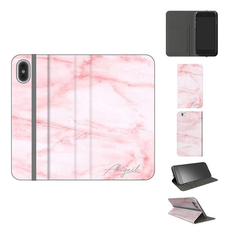 Personalised Cotton Candy Marble Initials iPhone XS Case