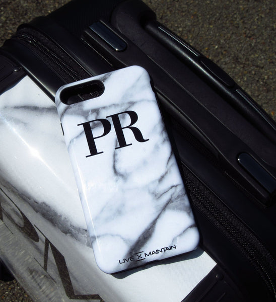 Personalised Pentelic Marble Initials iPhone 5/5s/SE Case