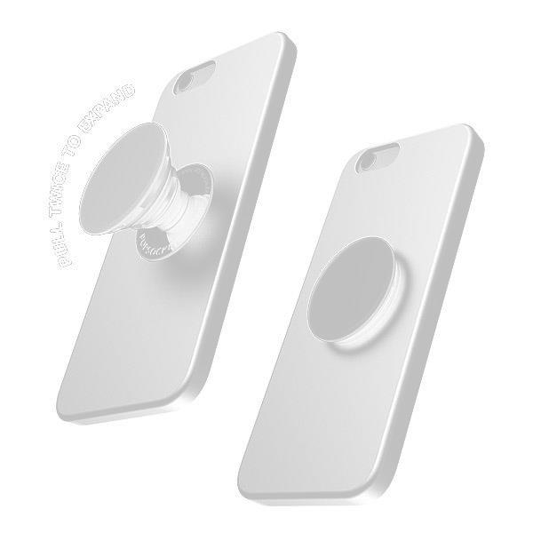 Personalised White Camouflage Initials Phone Grip
