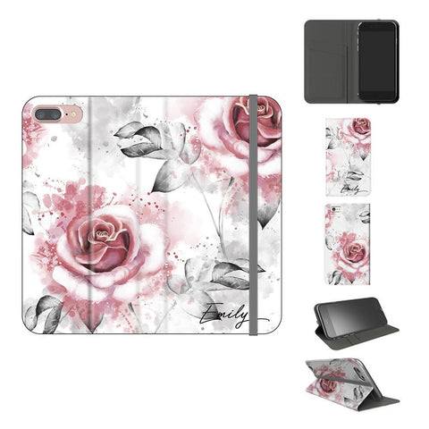 Personalised Floral Rose Initials iPhone 8 Plus Case