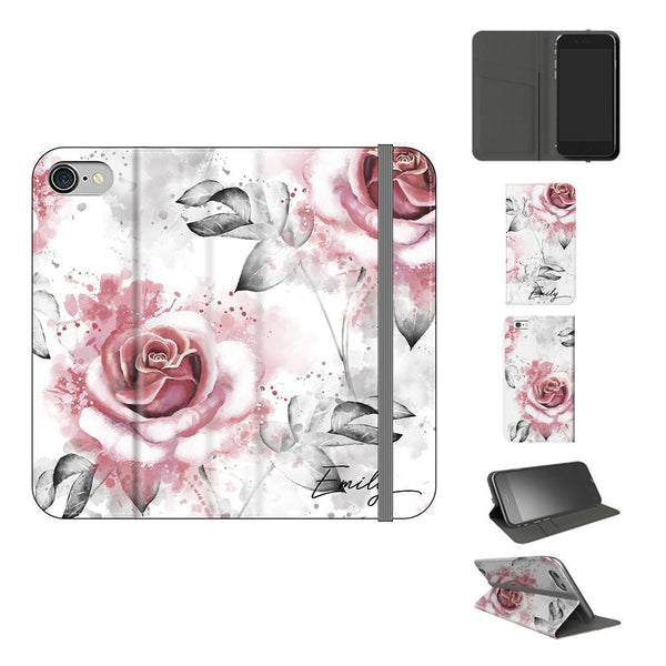 Personalised Floral Rose Initials iPhone 8 Case