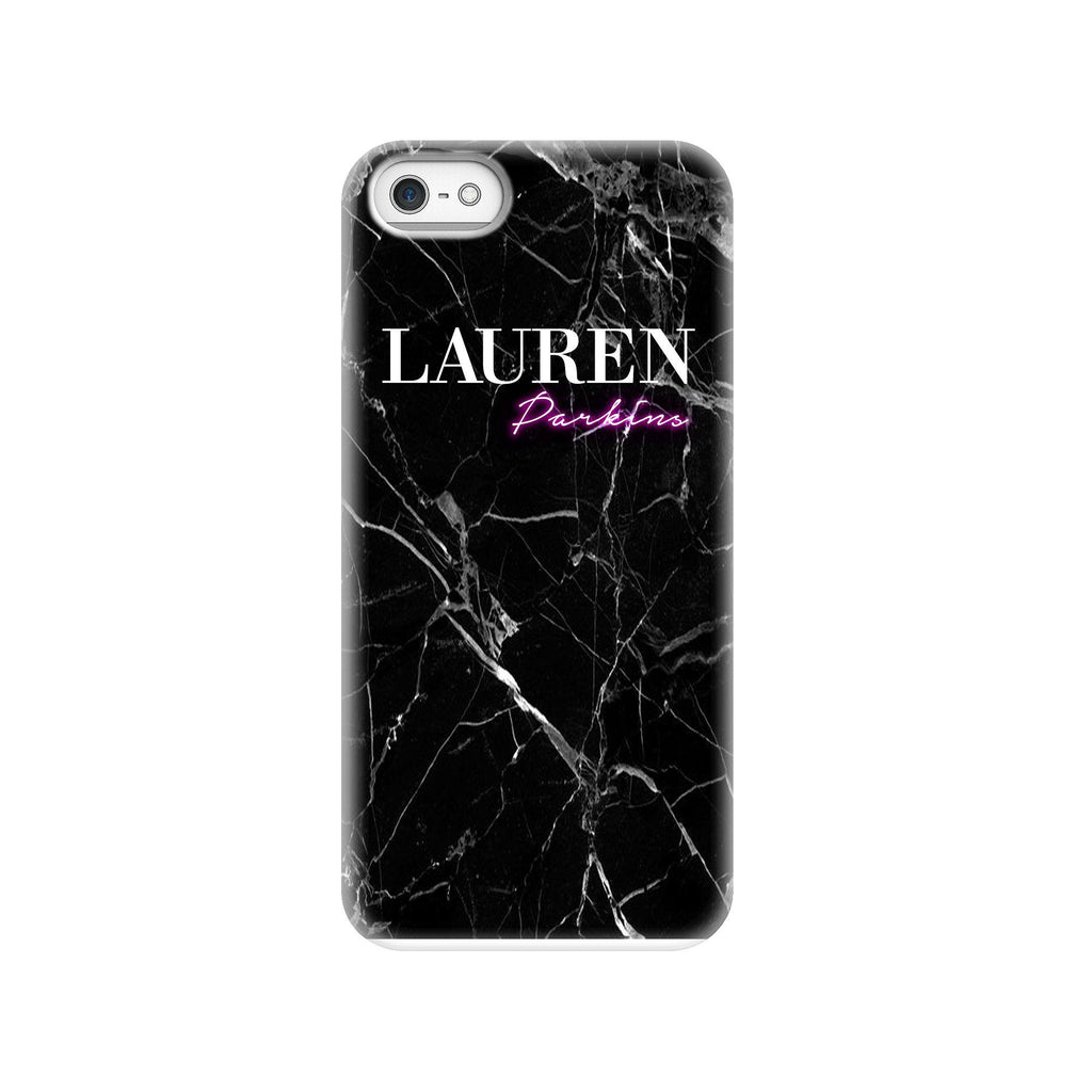 Personalised Neon Name iPhone 5/5s/SE (2016) Case