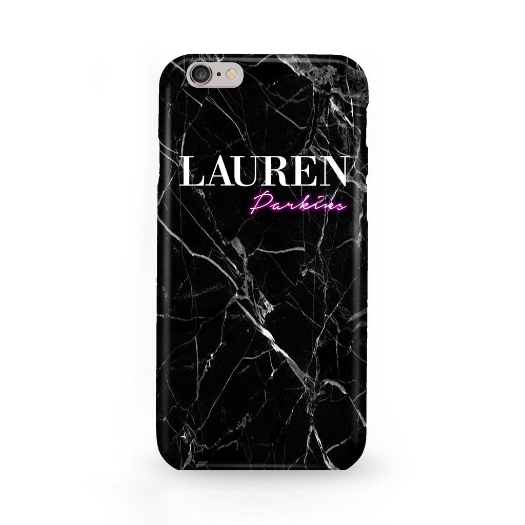 Personalised Neon Name iPhone 6/6s Case