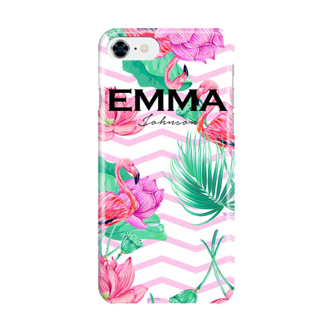 Personalised Flamingo Name iPhone 7 Case