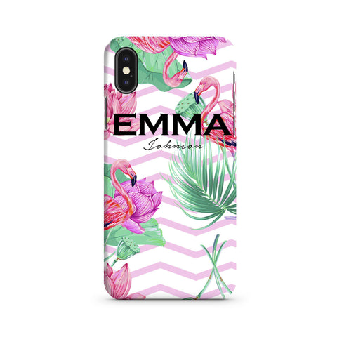 Personalised Flamingo Name iPhone XS Max Case