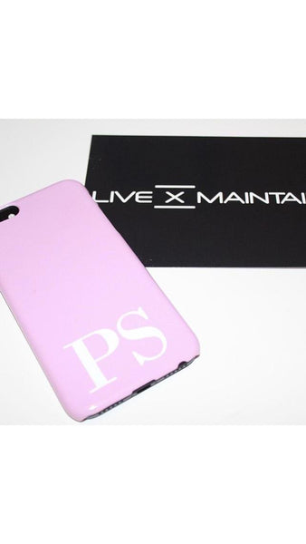 Personalised Pink x White Initials Phone Case