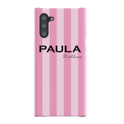 Personalised Pink Stripe Samsung Galaxy Note 10 Case