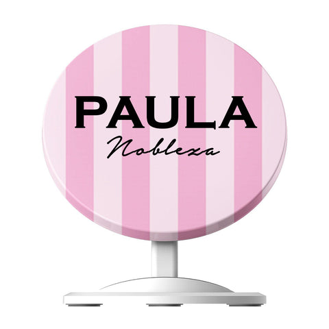 Personalised Pink Stripe Wireless Charger