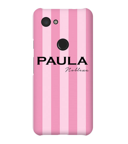Personalised Pink Stripe Google Pixel 3a Case