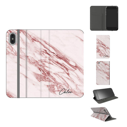 Personalised Rosa Marble Initials iPhone XS Max Case