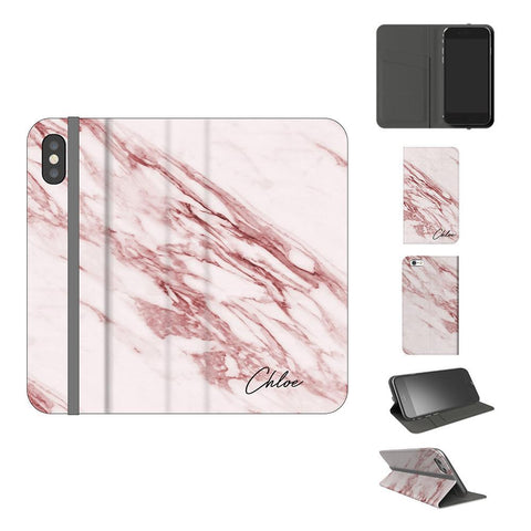 Personalised Rosa Marble initials iPhone X Case