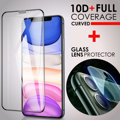 iPhone Glass Screen + Camera Lens Protector