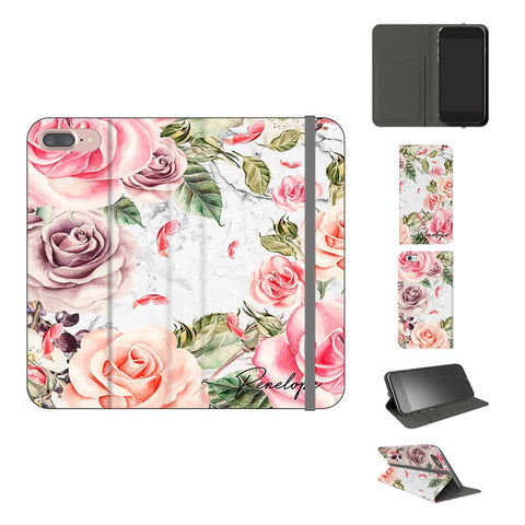 Personalised Watercolor Floral Initials iPhone 8 Plus Case
