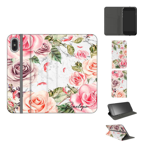 Personalised Watercolor Floral Initials iPhone XS Max Case