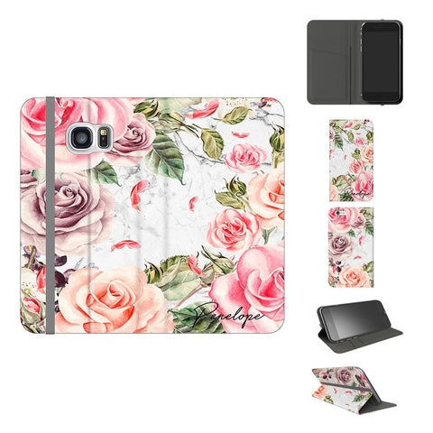 Personalised Watercolor Floral Initials Samsung Galaxy S7 Case
