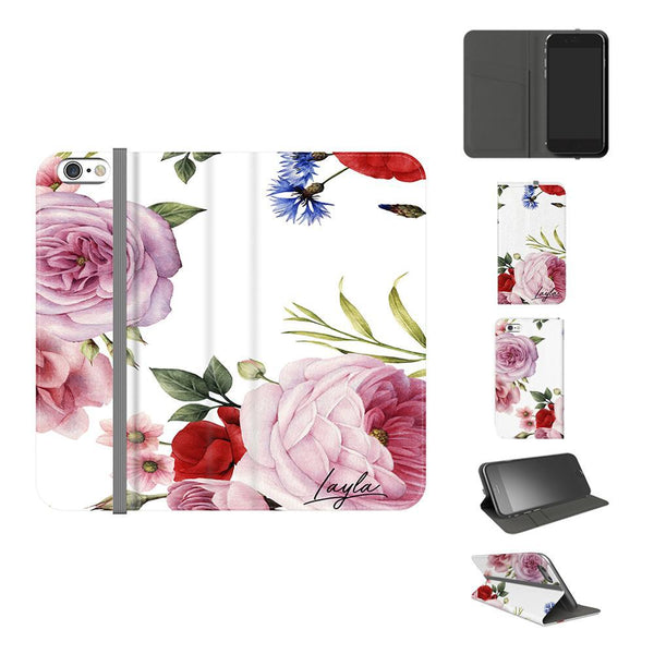 Personalised Floral Blossom Initials iPhone 5/5s/SE Case