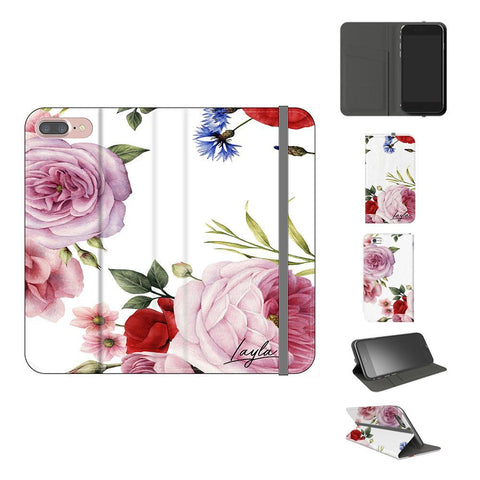 Personalised Floral Blossom Initials iPhone 8 Plus Case