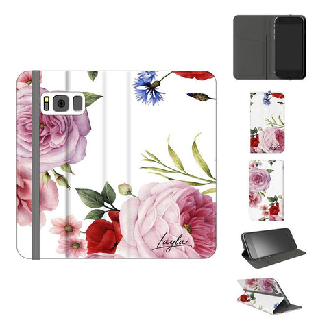 Personalised Floral Blossom Initials Samsung Galaxy S8 Case