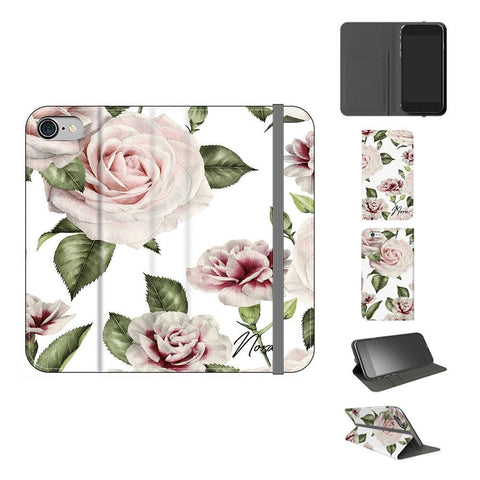 Personalised White Floral Rose Initials iPhone 8 Case