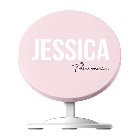 Personalised Bloom Side Name Wireless Charger