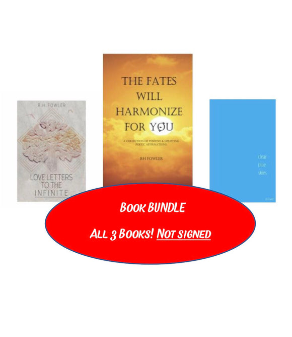 The Fates Will Harmonize For You + Love Letters To The Infinite + Clear Blue Skies (Paperback Bundle)