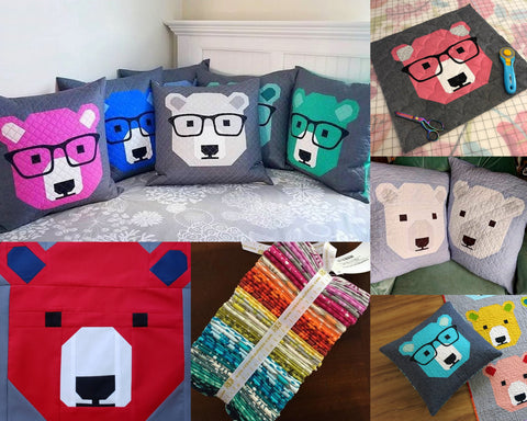 Bear Quilted Pillows