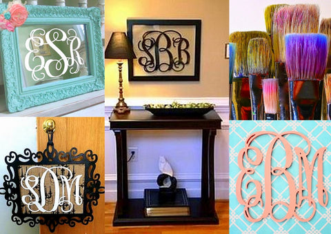 monograms, crafts, painting