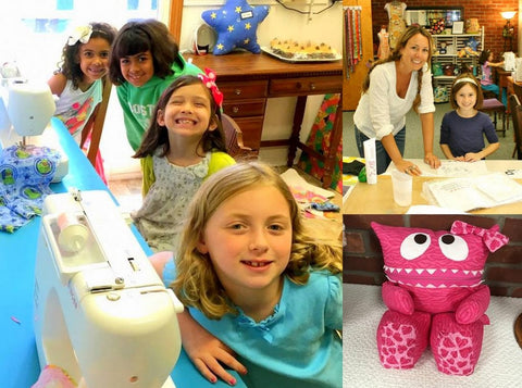 Smiling Faces of Kids Taking Sewing Lessons at The Creative Sewing Studio