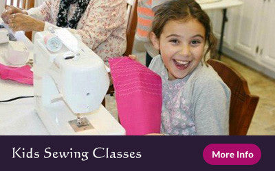 kids learn to sew
