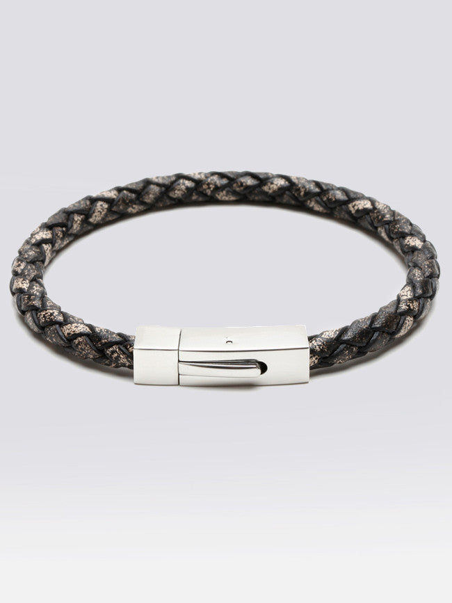 Geniune Vintage Brown Leather Bracelets on Steel Magnetic Clasp