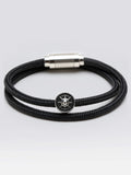 Double Wrap Nylon Rope Bracelets With 316L Steel Magnetic Clasp