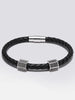 Genuine Leather Bracelet With Micro Pave Zircon Beads