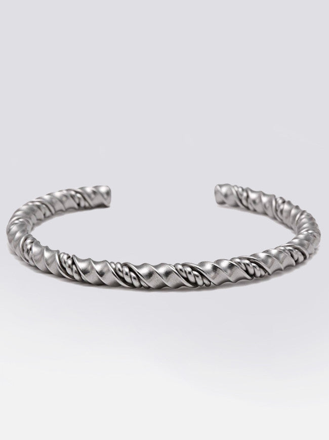 Twisted Wire Stainless Steel Cuff Bangle Bracelet – GK Men Jewelry