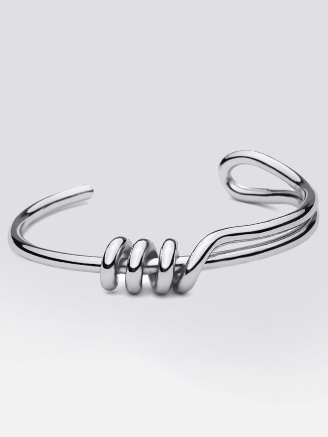 Stainless Steel 316L Knot Cuff Bangle Bracelet
